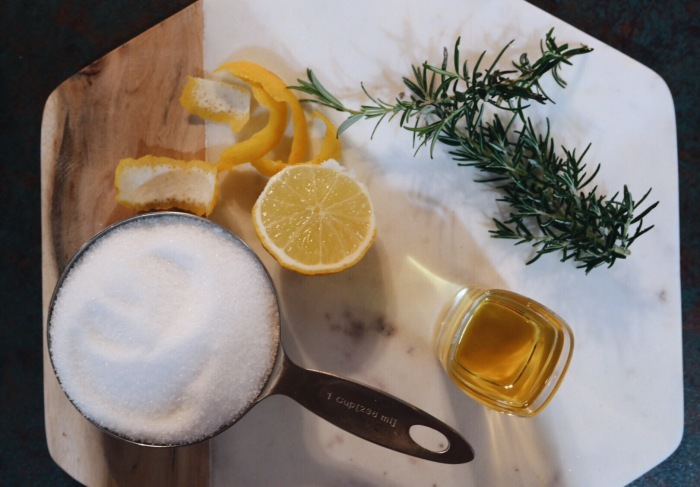 Rosemary and Lemon Sugar Scrub